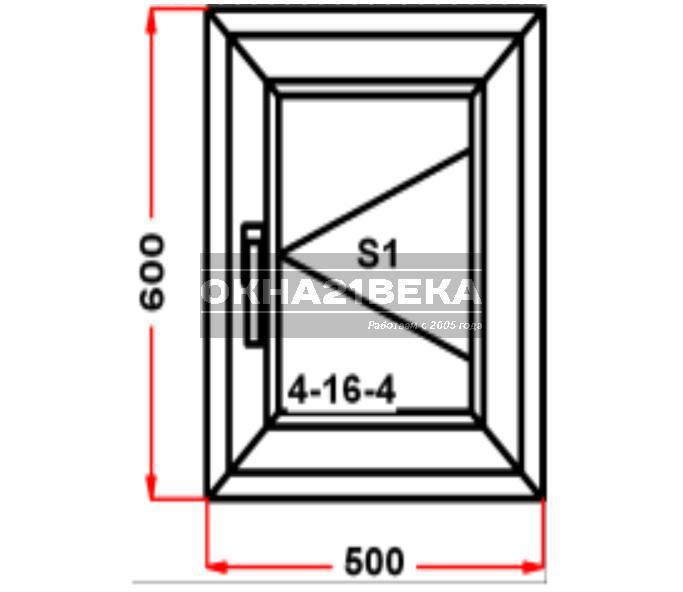Окно ПВХ модель 05